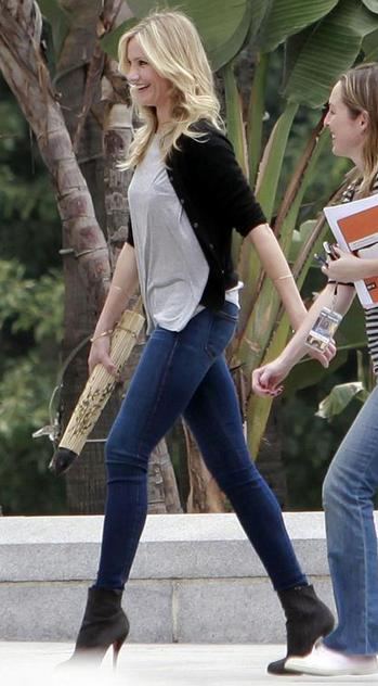 Cameron Diaz In Bad Teacher Movie Skinny Jeans Boots