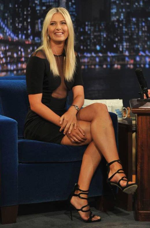 Maria Sharapova On Late Night With Jimmy Fallon Show On 08